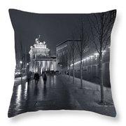 Ebertstrasse And The Brandenburg Gate Throw Pillow
