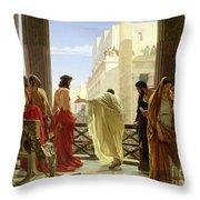 Ecce Homo Throw Pillow by Antonio Ciseri