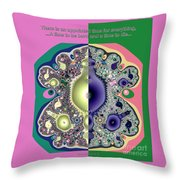 Ecclesiastes 3 A Time To Be Born And A Time To Die Fractal Throw Pillow