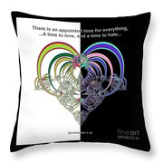 Ecclesiastes 3 A Time To Love And A Time To Hate Fractal Throw Pillow
