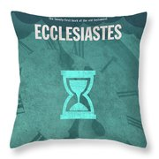 Ecclesiastes Books Of The Bible Series Old Testament Minimal Poster Art Number 21 Throw Pillow