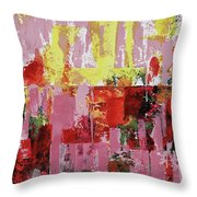 Coneflowers And Sun Throw Pillow