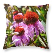 Echinacea Watercolor 2015 Throw Pillow