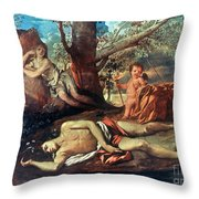 Echo And Narcissus Throw Pillow
