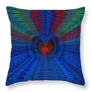 Echo Chamber Cubed Throw Pillow