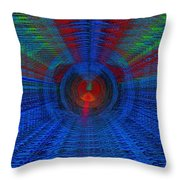 Echo Chamber Squared Throw Pillow