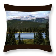 Echo Lake Colorado Throw Pillow