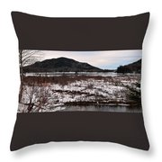 Echo Lake In Winter  Throw Pillow