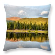Echo Lake Painterly 1 Throw Pillow