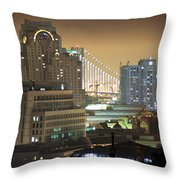 Echoes Of A City Throw Pillow
