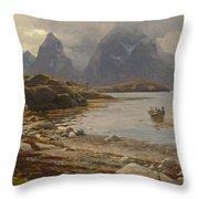 Eckenbrecher, Karl Paul Themistokles Von Athens 1842 - 1921 Goslar Norwegian Fjord Throw Pillow