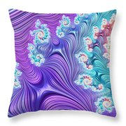 Eclectic Ripples Throw Pillow