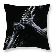 Eclectic Sax Throw Pillow
