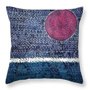 Eclipse Original Painting Throw Pillow