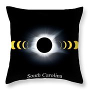Eclipse Timeline Throw Pillow