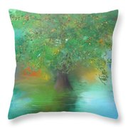 Eclipsed Sunset Throw Pillow