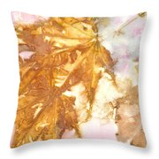 Eco Print 010b Throw Pillow