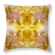 Eco Print As Above, So Below Throw Pillow