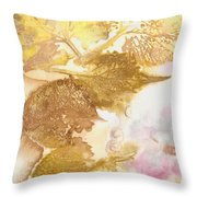 Eco Print 12d Throw Pillow