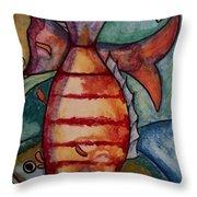 Eco Swim Throw Pillow