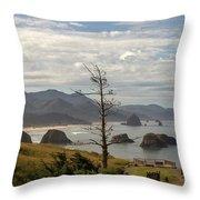 Ecola State Park Throw Pillow