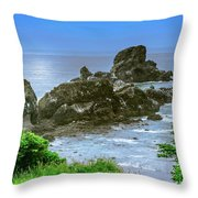 Ecola State Park Oregon 2 Throw Pillow by Shiela Kowing