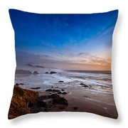 Ecola State Park At Sunset Throw Pillow