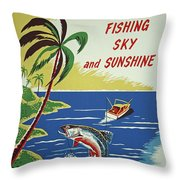 Ecuador 1950's Throw Pillow