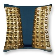 Ecuador: Gold Cuffs Throw Pillow