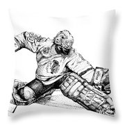 Ed Belfour Throw Pillow by Steve Benton