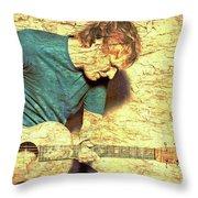 Ed Sheeran And Guitar Throw Pillow