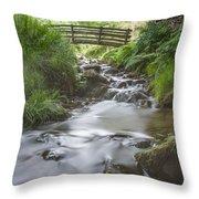 Edale Bridge. Throw Pillow