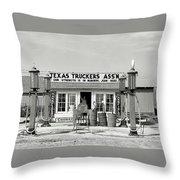 Edcouch Texas Gas Station 1939 Throw Pillow