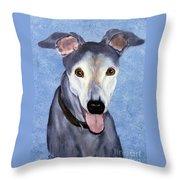 Eddie - Greyhound Throw Pillow