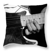 Eddie Bending Strings Throw Pillow
