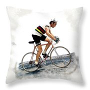 Eddie Merckx #2 Throw Pillow