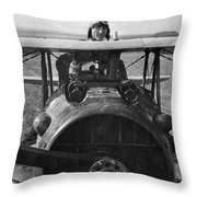Eddie Rickenbacker - World War One - 1918 Throw Pillow