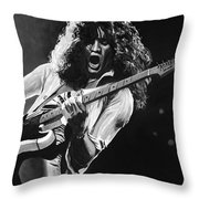 Eddie Van Halen - Black And White Throw Pillow