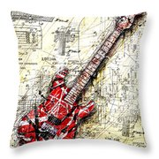 Eddie's Guitar 3 Throw Pillow