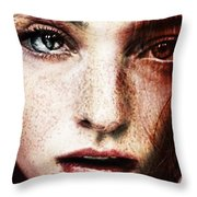 Eddie's Wounds Throw Pillow