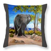 Eddy Elephant Throw Pillow