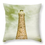 Eddystone Point Lighthouse Throw Pillow