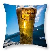 Edelweiss Beer In Kirchberg Austria Throw Pillow