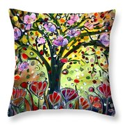 Eden Garden Throw Pillow