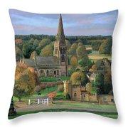 Edensor - Chatsworth Park - Derbyshire Throw Pillow