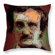 Edgar Allan Poe Artsy 2 Throw Pillow