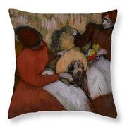 Edgar Degas - The Milliners - 1898 Throw Pillow