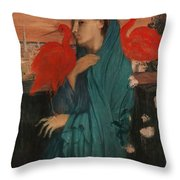 Edgar Degas - Young Woman With Ibis - 1860-1862 Throw Pillow