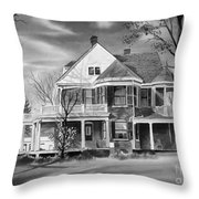 Edgar Home Bw Throw Pillow by Kip DeVore