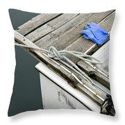 Edgartown Fishing Boat Throw Pillow
